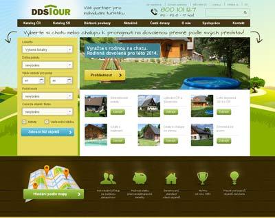 Vzhled nového webu společnosti DDS TOUR.